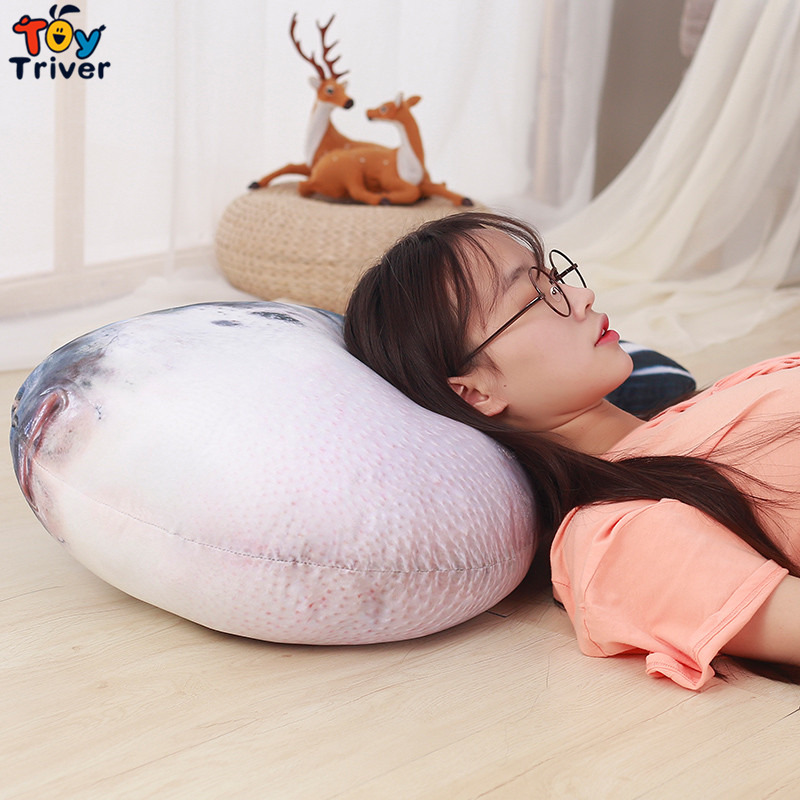 20 40 60cm Cute Puffer Fish Plush Toy Stuffed Sea Animal Baby Kids Children Birthday Gift Home Shop Decor Pillow Cushion Triver in Stuffed Plush Animals from Toys Hobbies