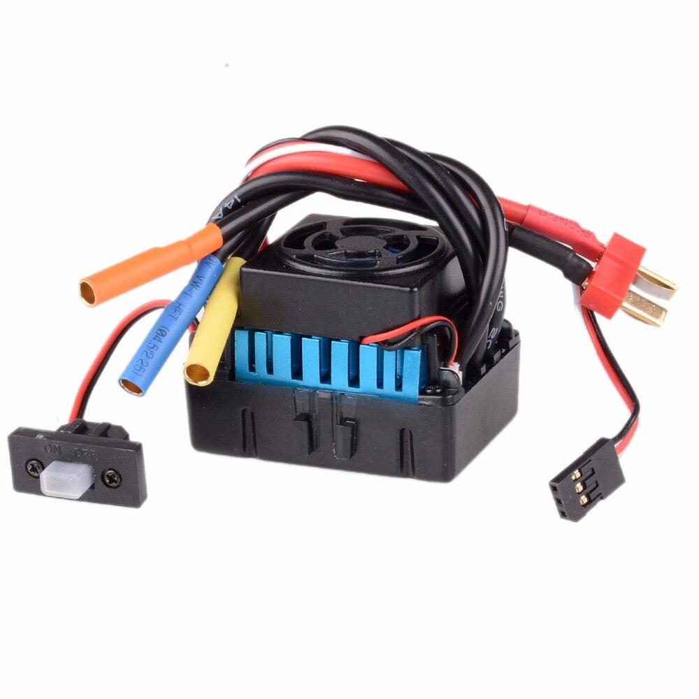 2S-3S LiPo 45A वाटरप्रूफ ब्रशलेस ESC - रिमोट कंट्रोल के साथ खिलौने