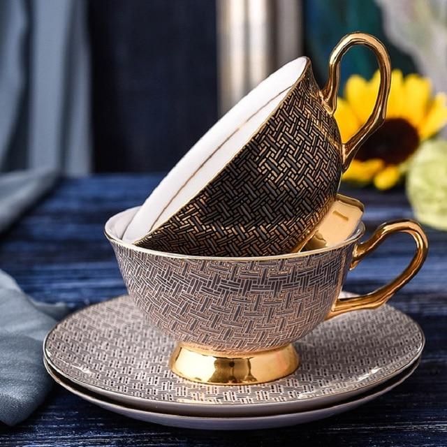 european style royal classic bone china coffee mug set coffee cup