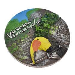 Личи жизнь Венесуэла магниты на холодильник с изображением животных мультфильм Птицы круглой формы магниты на холодильник современные