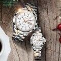 JSDUN женские часы  мужские часы  топовый бренд  роскошные механические часы для пар  водонепроницаемые часы из вольфрамовой стали