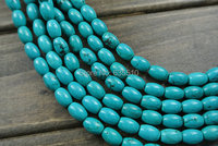 4X6m Natural Turquoise Barrel Rice Beads Free Shipping