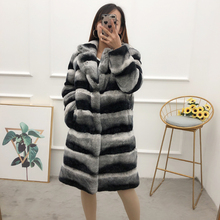 襟リアルトトロ毛皮の上着女性の毛皮ジャケット siut 新しいチンチラ毛皮のコート女性の冬暖かい毛皮のオーバーコート