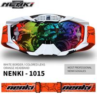 NENKI Motorcycle Glasses Eyewear Replaceable Lens Motocross Goggles Off Road ATV Dirt Bike Moto Goggles Ski Snowboard Glasses