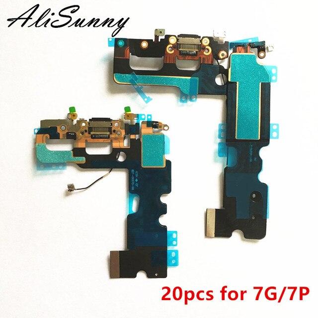 AliSunny 20pcs ชาร์จสายเคเบิล Flex สำหรับ iPhone 7 Plus 7 P 7G 7 Plus USB DOCK Connector Charger พอร์ตเปลี่ยนชิ้นส่วน