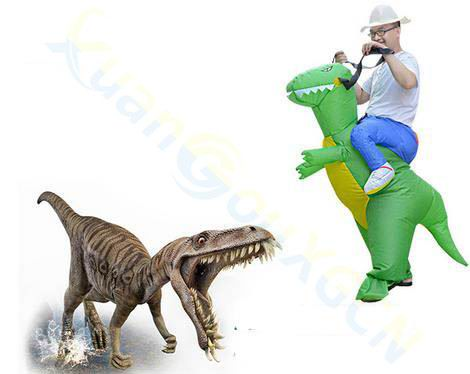 Bar cosplay Stage Show School Party inflatable clothes costume Halloween dinosaur western inflatable Mascot Costume Onesie in Ballons Accessories from Home Garden