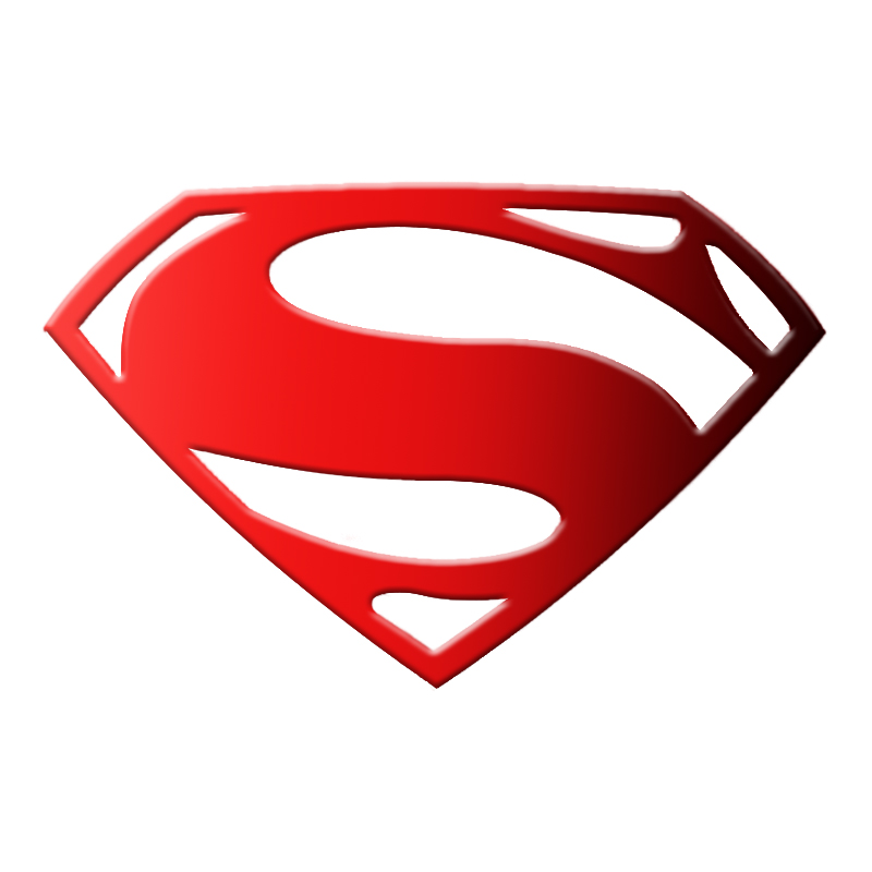 licensed, made and shipped from USA Superman ABS Acrylic 3D S OVERSIZED Shield Emblem Red