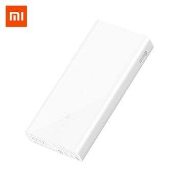 Xiao mi mi Banku Mocy 20000 mah 2C Zewnętrzna Bateria przenośna ładowania Dwa Porty USB, Dwa-wayQuick Ładowania QC3.0 20000 mah Powerbank