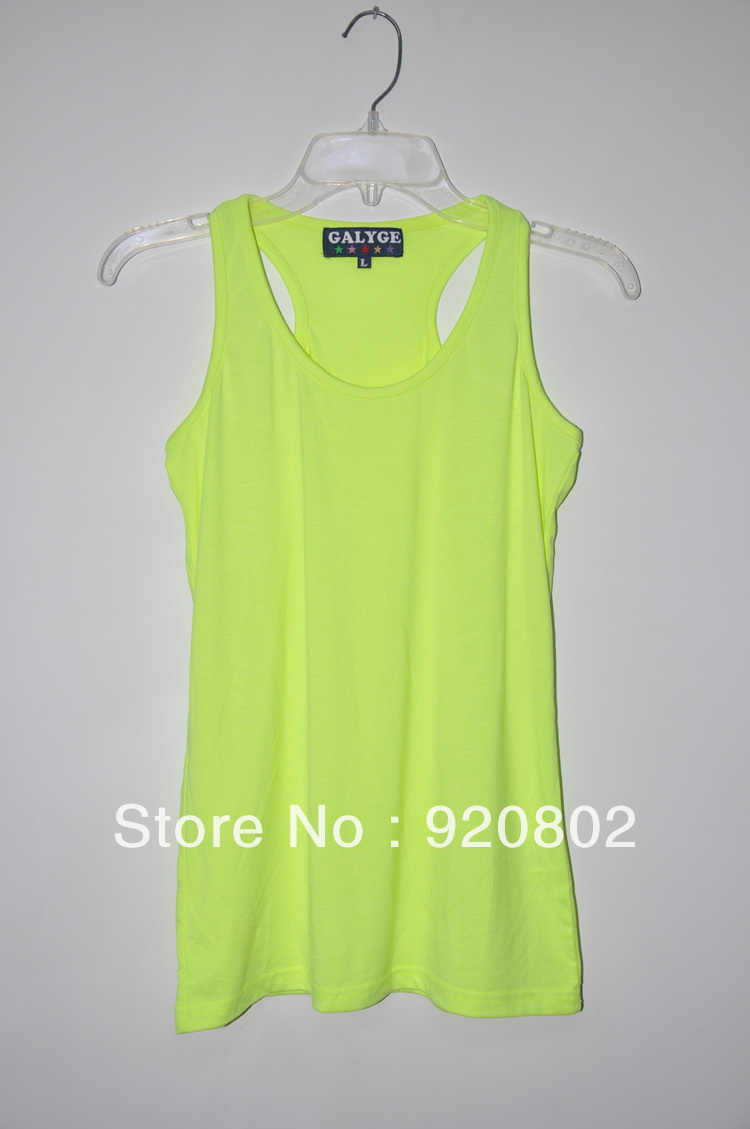 2012 Summer popular the new GALYGE its women straight solid color wild little vest (T shirt partner)|t-shirt neon|t-shirt style|t-shirt outline