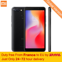 Free tax! Global Version Xiaomi Redmi 6 3GB 32GB Smartphone MTK Helio P22 Octa Core 5.45 18:9 Full Screen 12MP+5MP Dual Cameras