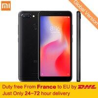 Tax Free! Глобальная версия Xiaomi Redmi 6 3 ГБ 32 ГБ смартфон МТК Helio P22 Octa Core 5,45 18:9 полный Экран 12MP + 5MP двойной камеры