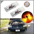 (2) Amber Yellow 12-SMD-2835 7443 7444 T20 LED Replacement Bulbs For Turn Signal Lights, Daytime Running Lights, Driving Lights