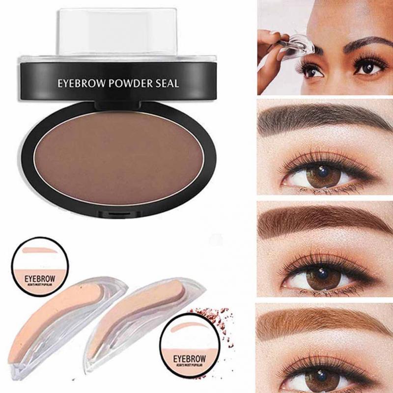 Professional Natural Eyebrow Stamp Waterproof Eyebrow Powder Seal Quick Makeup Eye Brow Cosmetic Beauty Makeup Tool Tattoo Brow 2