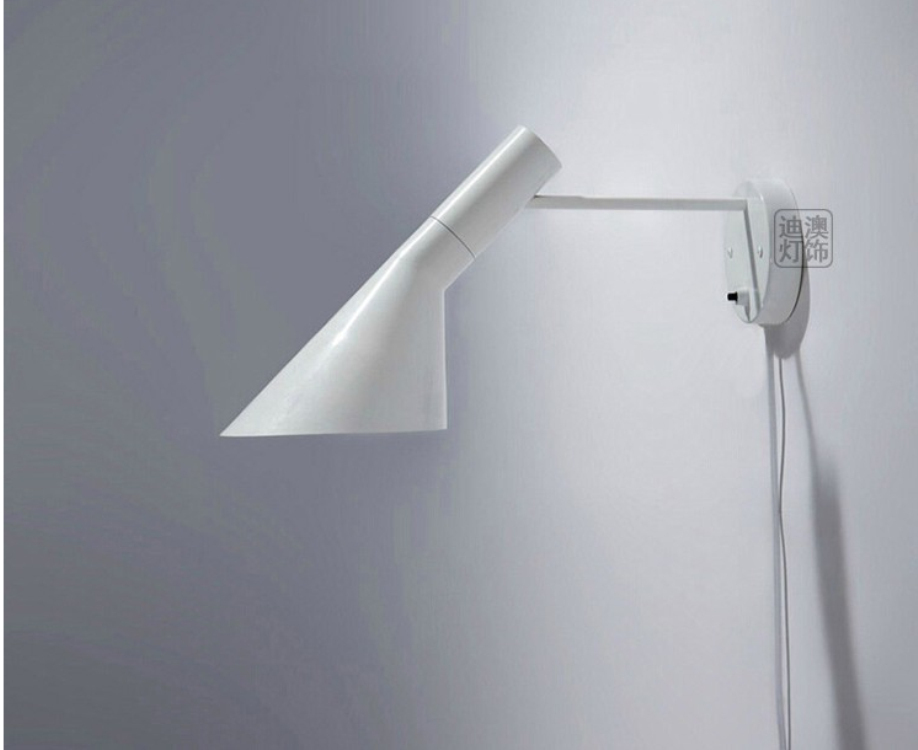 Free shipping replica modern louis poulsen arne jacobsen wall lights creative aj wall lamp modern led sconce 1 light black white in wall lamps from lights
