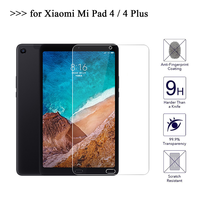 9H Tempered Glass For Xiaomi Mipad 4 Plus Mi Pad 4 Plus 10.1 Inch Screen Protector Film 0.3mm HD Hard Cover Explosion Proof Film
