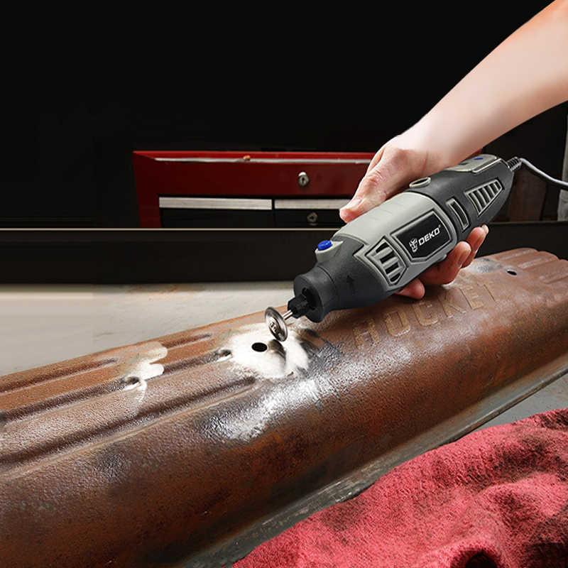 DEKO GJ201 LCD A Velocità Variabile Rotary Tool Dremel Stile Incisore Elettrico Mini Drill Grinder w/Albero Flessibile Set4