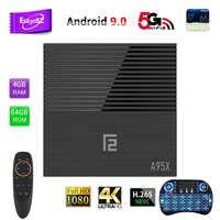 EstgoSZ A95X F2 Smart TV Box Android 9.0 OS 4GB DDR3 32GB 64GB USB2.0&3.0 HDMI 2.1 Power CPU S905X2 New GPU G31 Supports IPTV