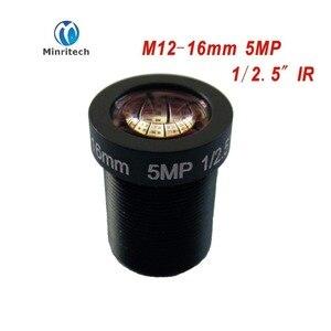 5MP 1/2. 5  16mm 27 Degrees CCTV Fixed Iris IR Board Lens M12 MTV Mount for 960P 1080P 2MP 3MP 4MP 5Megapixel Analog IP Camera