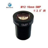 5MP 1 2 5 16mm 27 Degrees CCTV Fixed Iris IR Board Lens M12 MTV Mount