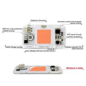 Image 3 - חדש DOB ניתן לעמעום LED לגדול אור מנורת מלא ספקטרום קלט 220V AC 20W 30W 50W עבור מקורה צמח שתיל לגדול ופרח COB שבב