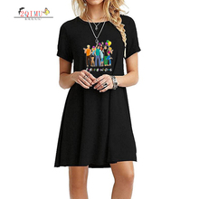 2QIMU 2019 Womens Summer Fashion Print Short Sleeve Dress A-Line Slim O-Neck Casual Knee-Length Vestidos Sexy