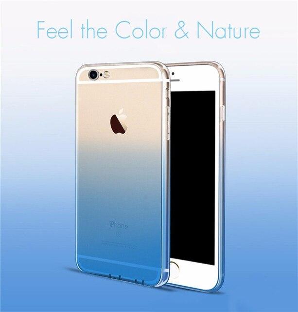 New Cute Gradient Case for iPhone 6 6s 4.7′ 6Plus 6sPlus 5.5′