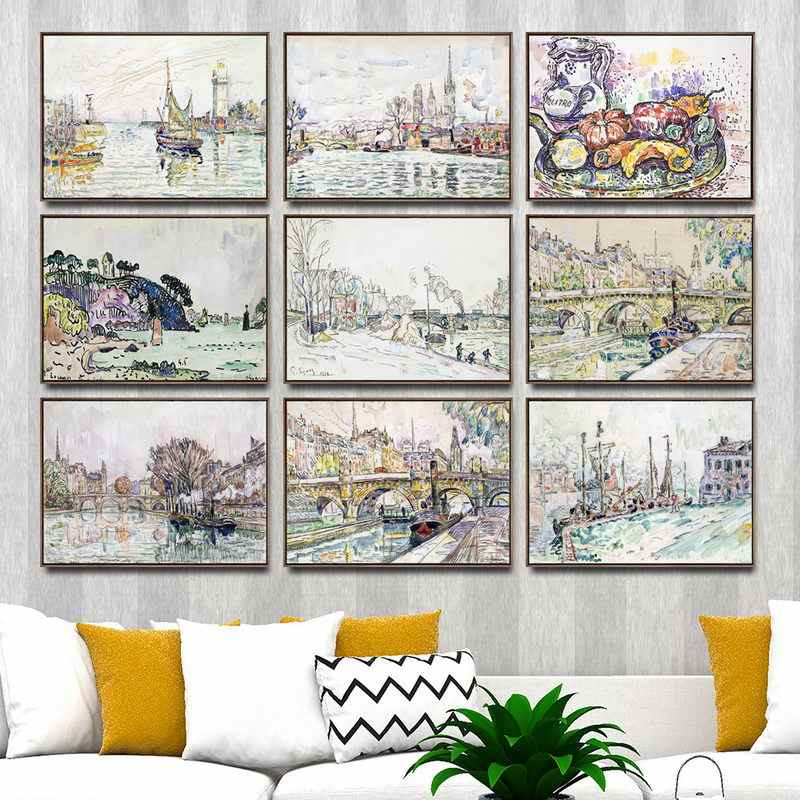 Home Decoration Art Wall Pictures Fro Living Room Poster Print Canvas Paintings French Paul Signac 4 Painting Calligraphy Aliexpress