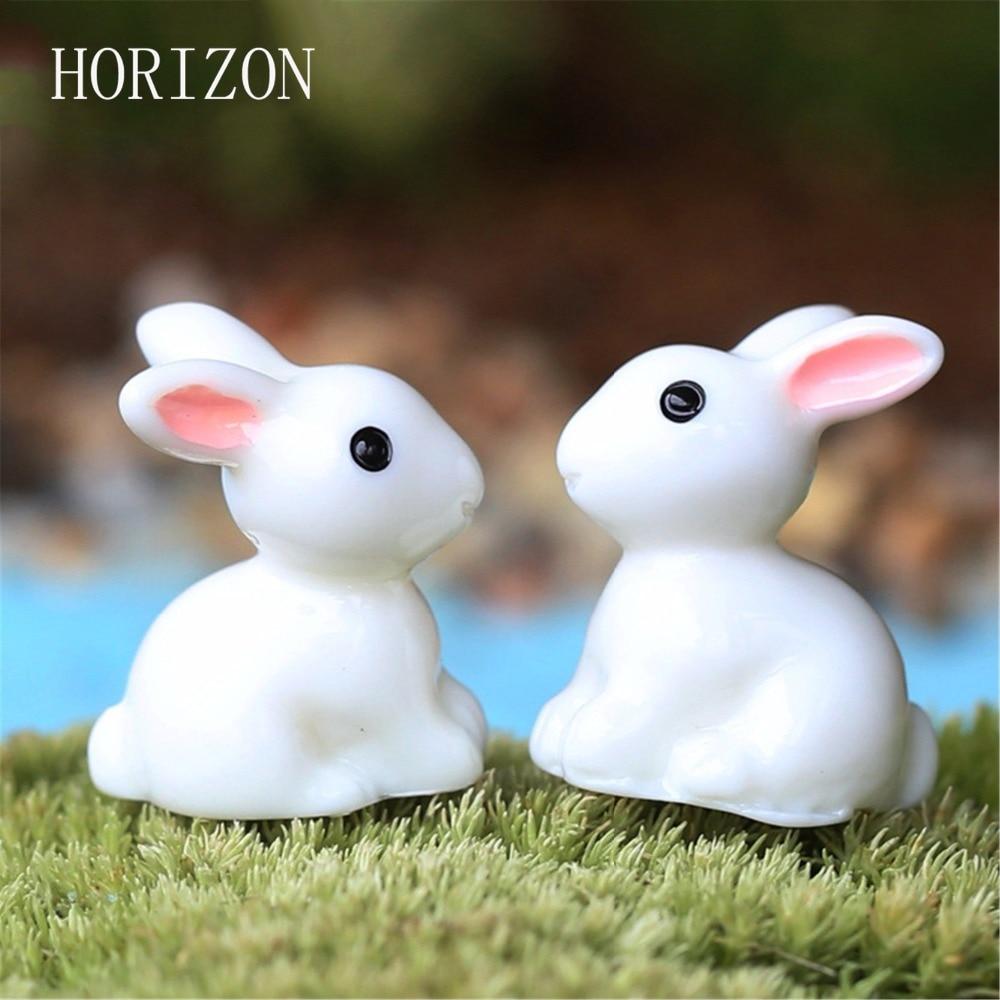 Fairy garden ornaments - 2016 New Hot Mini Rabbit Hedgehog Tortoise Ornament Miniature Figurine Plant Pot Fairy Garden Decor Home Decoration 2pcs
