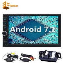 "7"" 2Din Car Stereo Android 7.1 8-core In Dash GPS Navigation FM AM Radio Bluetooth WiFi Steering Wheel Control+Wireless Camera"