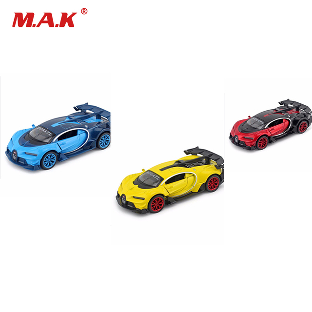 Collection 1:32 Scale Alloy Diecast Bugatti Veyron GT Car Model Fast and Furious Red/Blue/Yellow With Sound&Light Toys for Boys