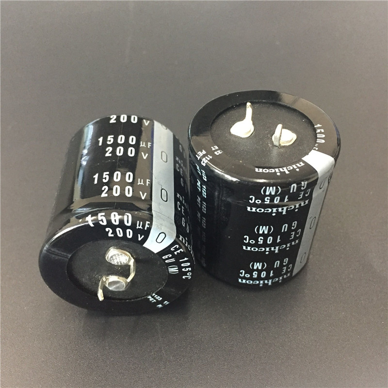 2pcs 1500uF 200V NICHICON GU Series 35x40mm High Quality 200V1500uF Snap-in PSU Aluminum Electrolytic Capacitor