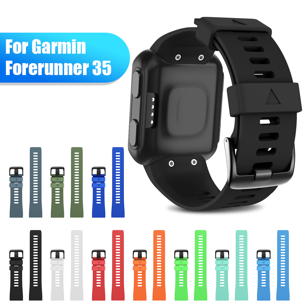 Soft Silicone Watchband For Garmin Forerunner 35 Band Outdoor Sport Silicone Band Strap For Garmin Forerunner 35 Smart Watchband