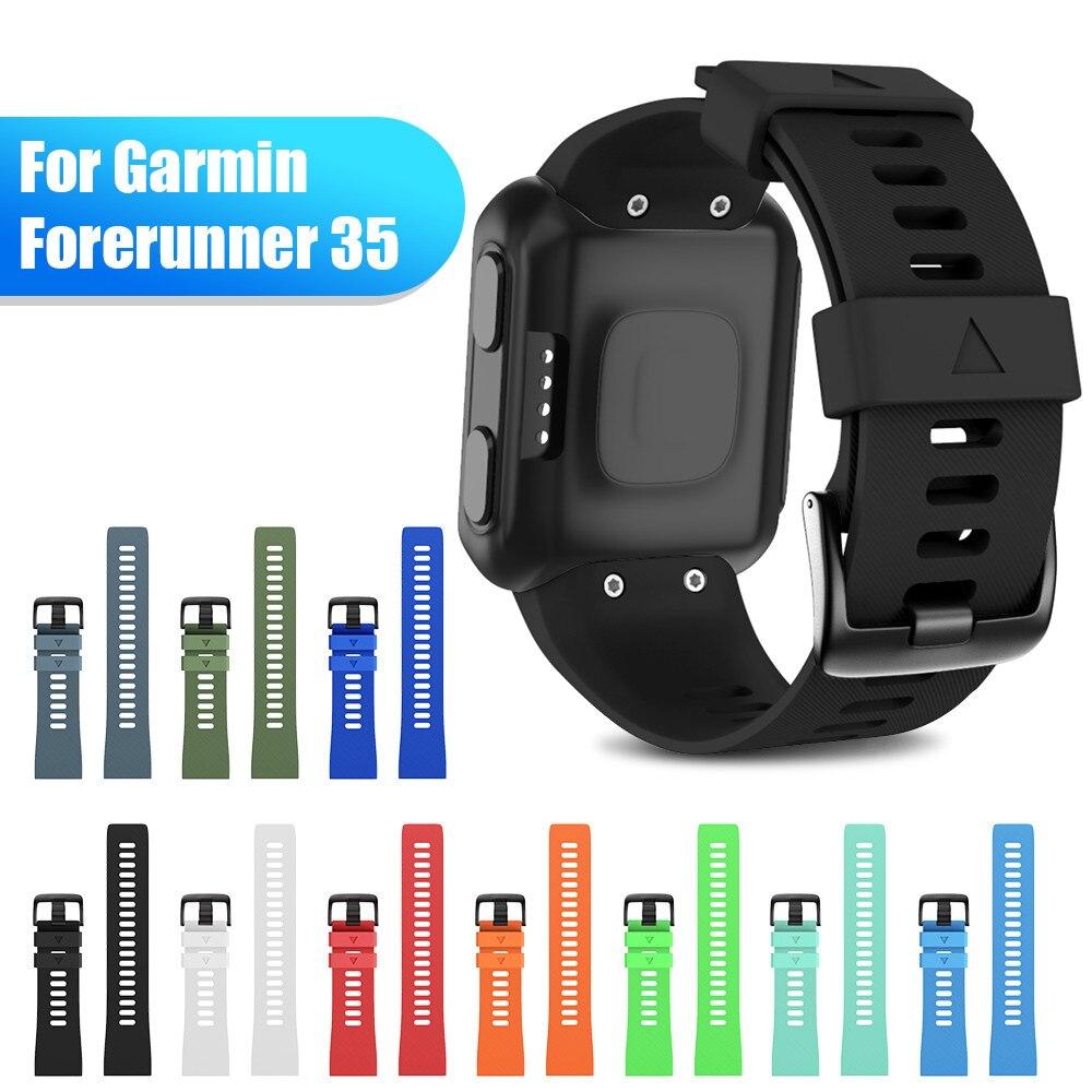 Soft Silicone Watchband For Garmin Forerunner 35 Band Outdoor Sport Silicone Band Strap For Garmin Forerunner 35 Smart Watchband