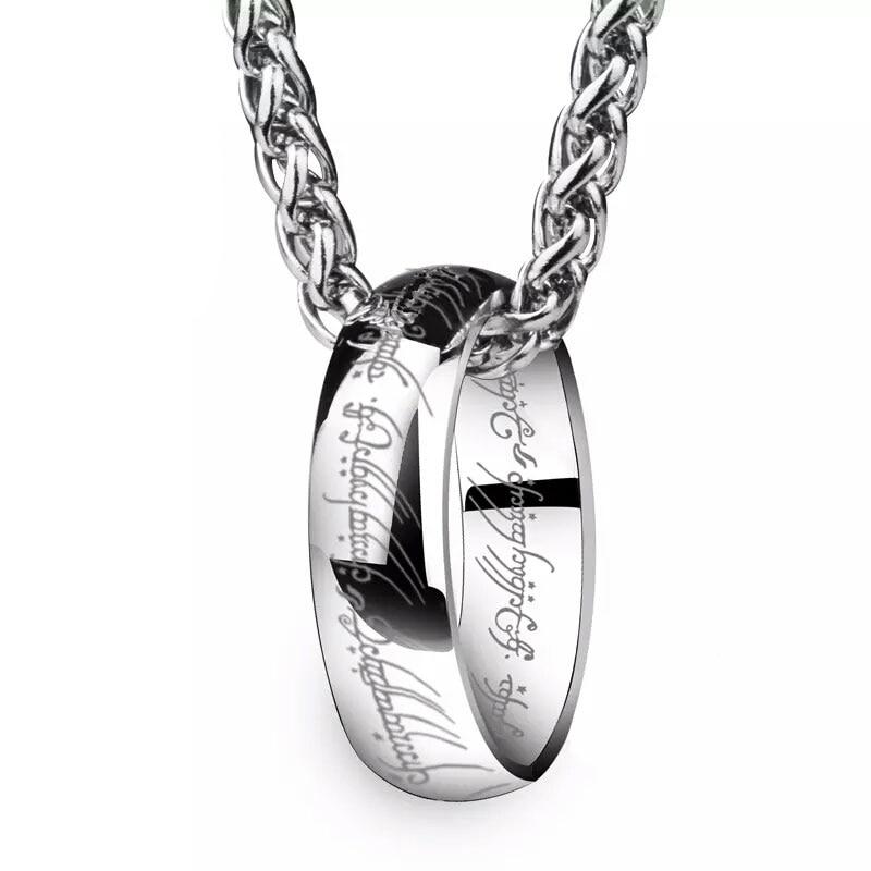WAWFROK Halsband Män De Collar Stainless Steel Scripture Halsband Hängsmycke Acero Inoxidable Cadena Collar Chain Smycken