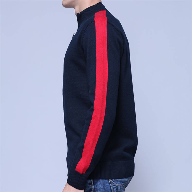 2018 MuLS Brand Half Zipper Sweater Men Quality Spring High Neck Male Pullover Thick Cotton Turtleneck Jumper Autumn Men Sweater-07