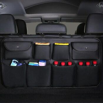2019 nouveau PU cuir voiture siège arrière sac de rangement arrière multi-usage voiture coffre organisateur Auto rangement rangement accessoires intérieur Auto