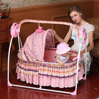 New Baby Nest Foldable Electric Baby Beds with Music Floral Washable Baby Cribs for Newborn Babies Hammock for Children Kids Toy