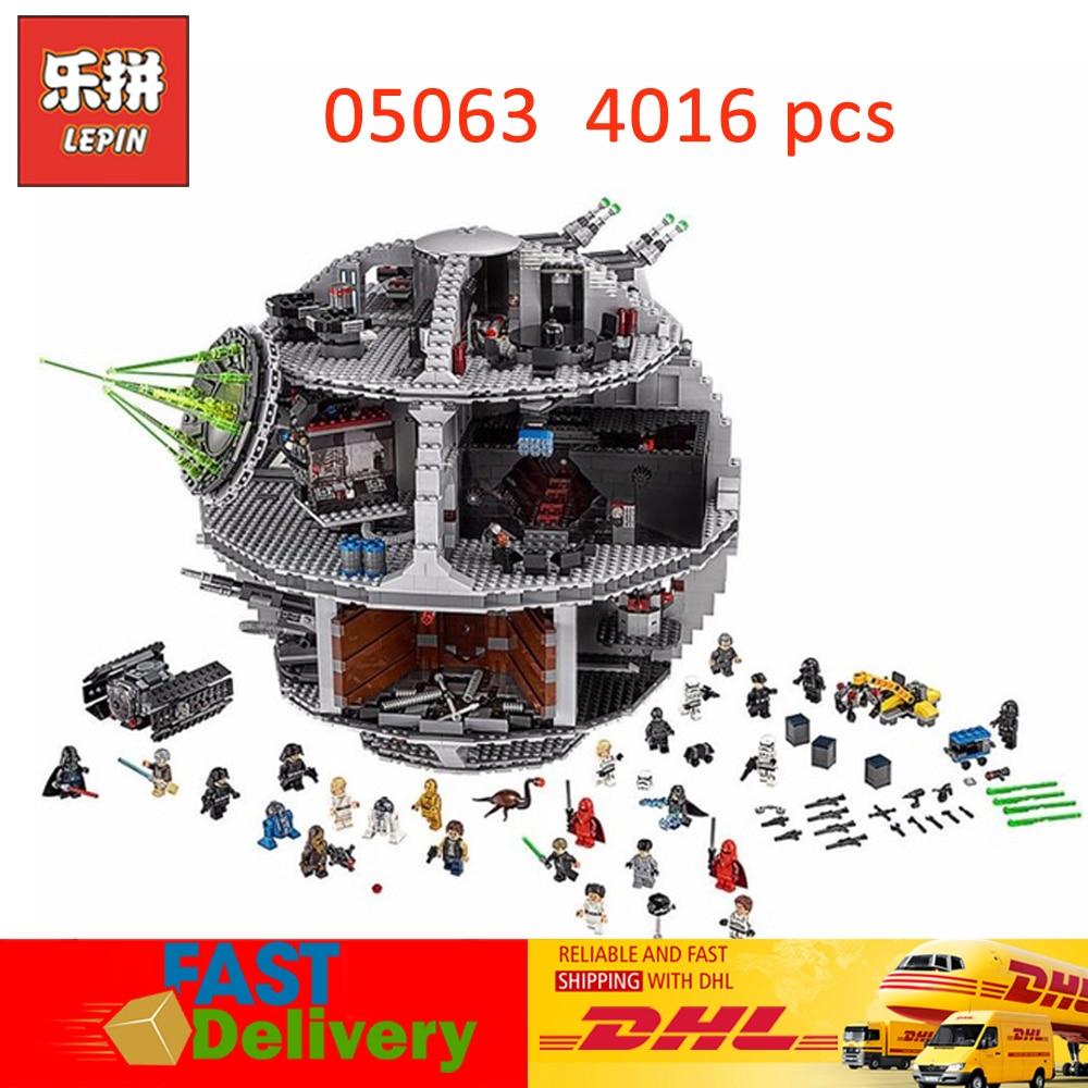 Lepin 05063 Star Wars Il UCS Morte Star Modello Compatibile LegoINGlys 75159 Blocchi di Mattoni Giocattoli per I Bambini Regali Di Natale