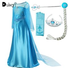Girls Princess Elsa Dress Costumes for kids Anna Snow Queen Costume Cosplay Dresses Clothes Children Party Dress Vestidos kids girls halloween christmas party dresses snow white anna elsa minnie princess tutu dress children dance cosplay cute costume