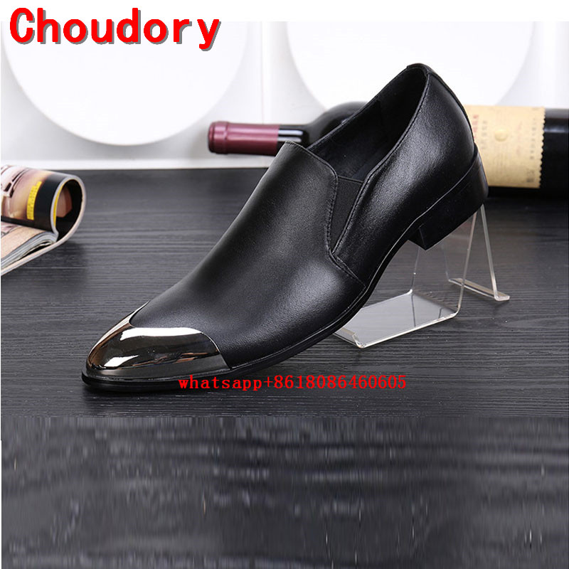 Choudory Classic red wedding shoes genuine leather iron toe gold dress shoes men loafers formal oxford plus size velvet slippersChoudory Classic red wedding shoes genuine leather iron toe gold dress shoes men loafers formal oxford plus size velvet slippers