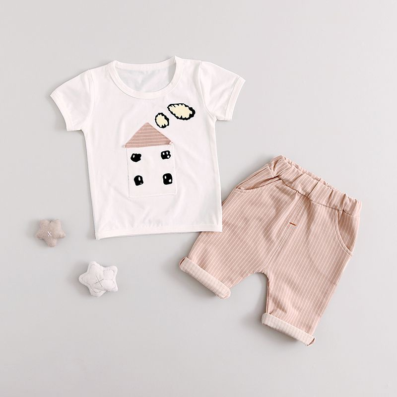 Summer Baby Boys Girls Clothes Sets Casual Style Infant Cotton Suits T Shirt+Pants 2 Piece Kids Children Suits