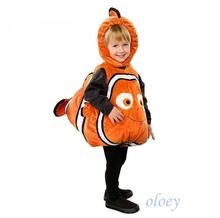 Deluxe Adorable Child Clownfish From Pixar Animated Film Finding Nemo Little Baby Fishy Halloween Christmas Cosplay oloey v herbert little nemo