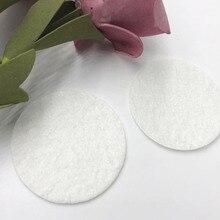 Шт. 50 шт. фетр 40 мм круглые Аппликации-белый цвет бесплатная доставка