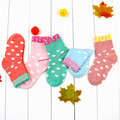 girl cotton socks100% cotton winter autumn warm socks 6T baby girl socks 5 pairs one lot cute style baby socks factory wholesale