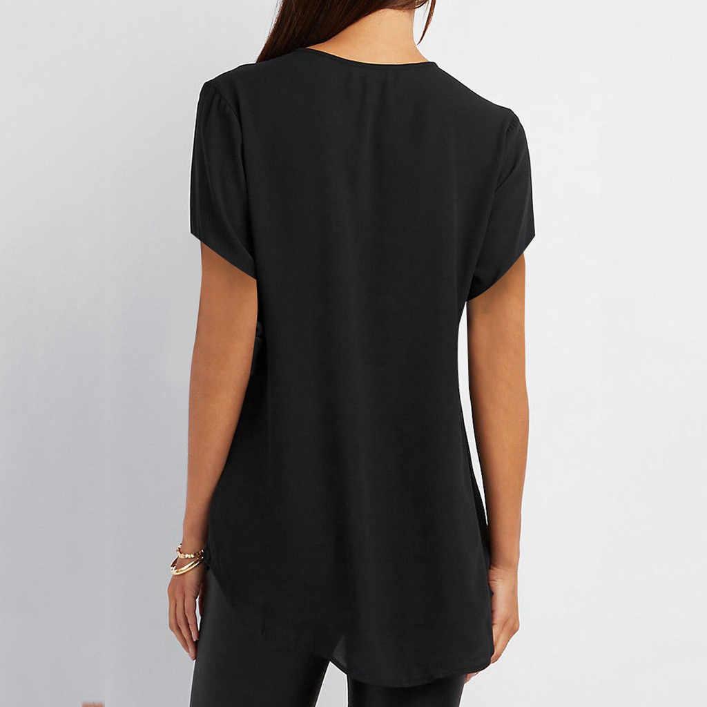 Feminino casual verão camisa das senhoras com decote em v zíper solto camiseta camiseta topo moda feminina manga curta vestidos mujer verano