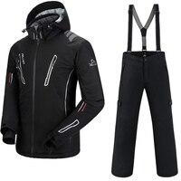 Лыжный костюм Мужская лыжная куртка + Saenshing сноуборд брюки дышащий Лыжный спорт Сноубординг зимний набор супер теплый водостойкий
