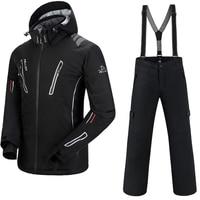 Ski Suit Men Pelliot Ski Jacket + Saenshing Snowboard Pants Breathable Skiing Snowboarding Winter Snow Set Super Warm Waterproof