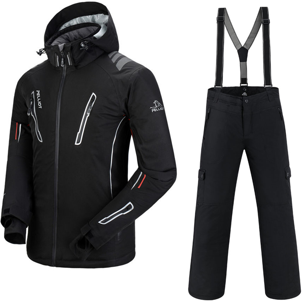 Combinaison de Ski hommes Pelliot veste de Ski + Saenshing Snowboard pantalon respirant Ski Snowboard hiver neige ensemble Super chaud imperméable
