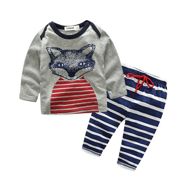 Zomer Kinderkleding.Kimocat Zomer Kinderkleding Sets 2 Stks Baby Kleding Baby Boy Pak