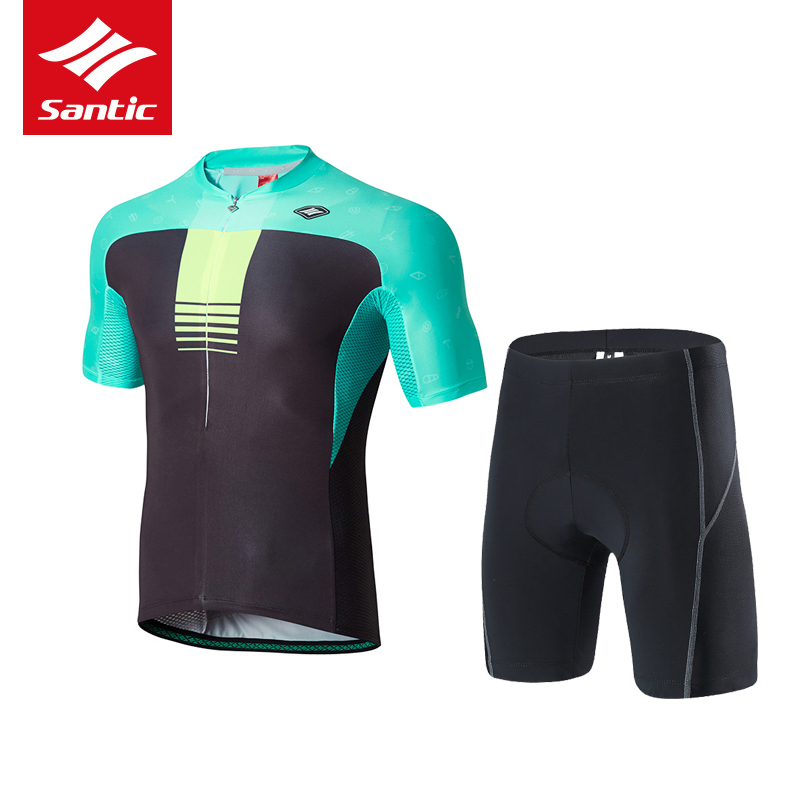 Santic Pro Team Cycling Jersey Set Men Summer 4D Gel Pads Breathable Bike Bicycle Suits Quick Dry Downhill Clothes Ropa Ciclismo